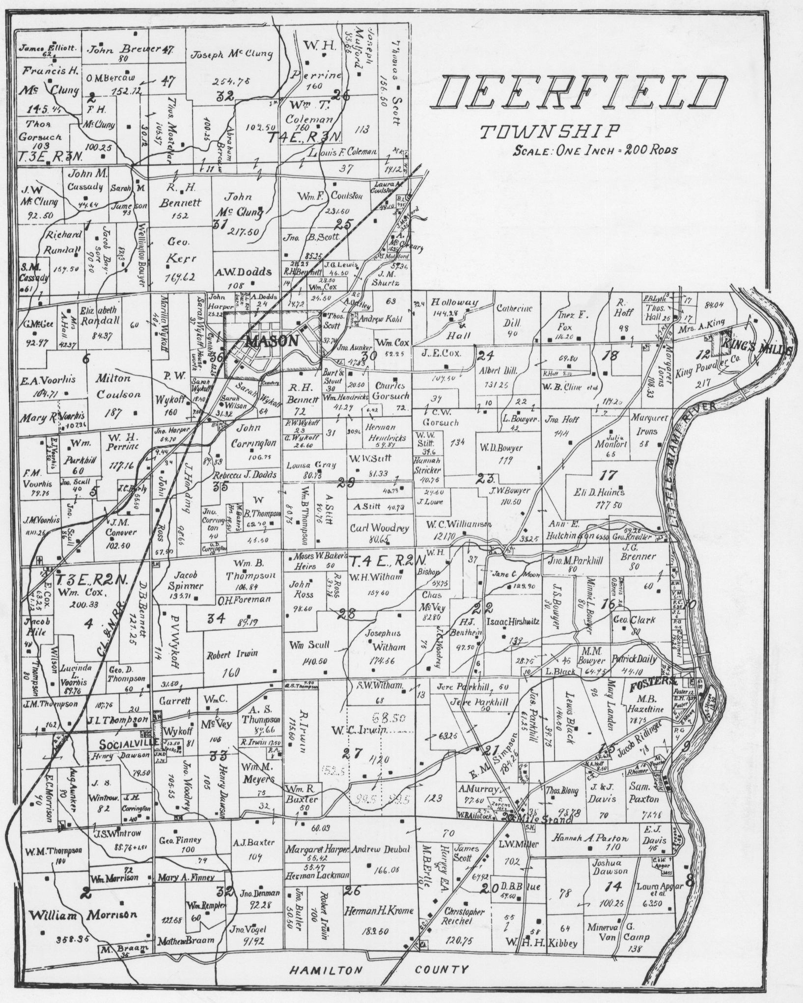 Deerfield Township map