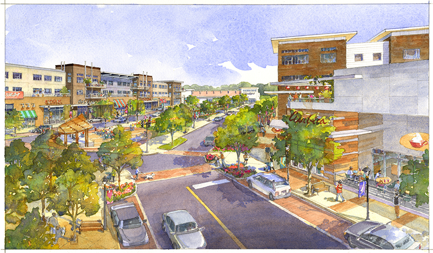 Rendering of District at Deerfield