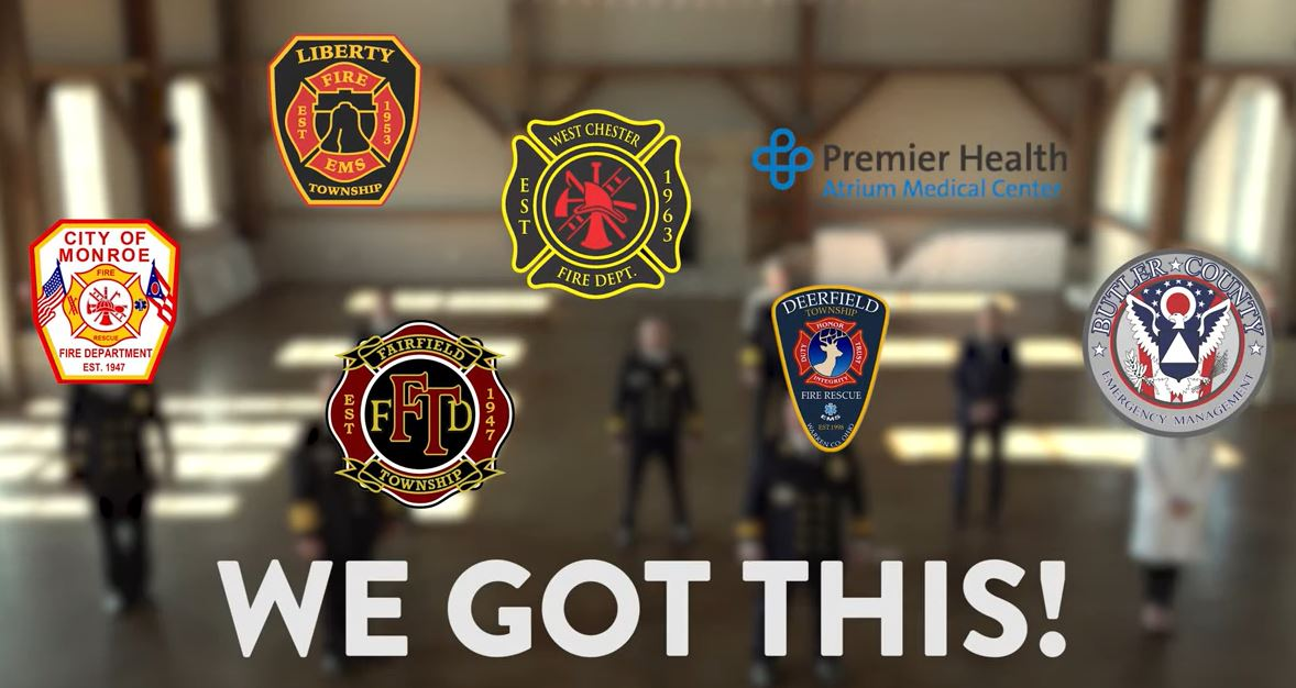 Several Fire Department Logos over text saying We Got This