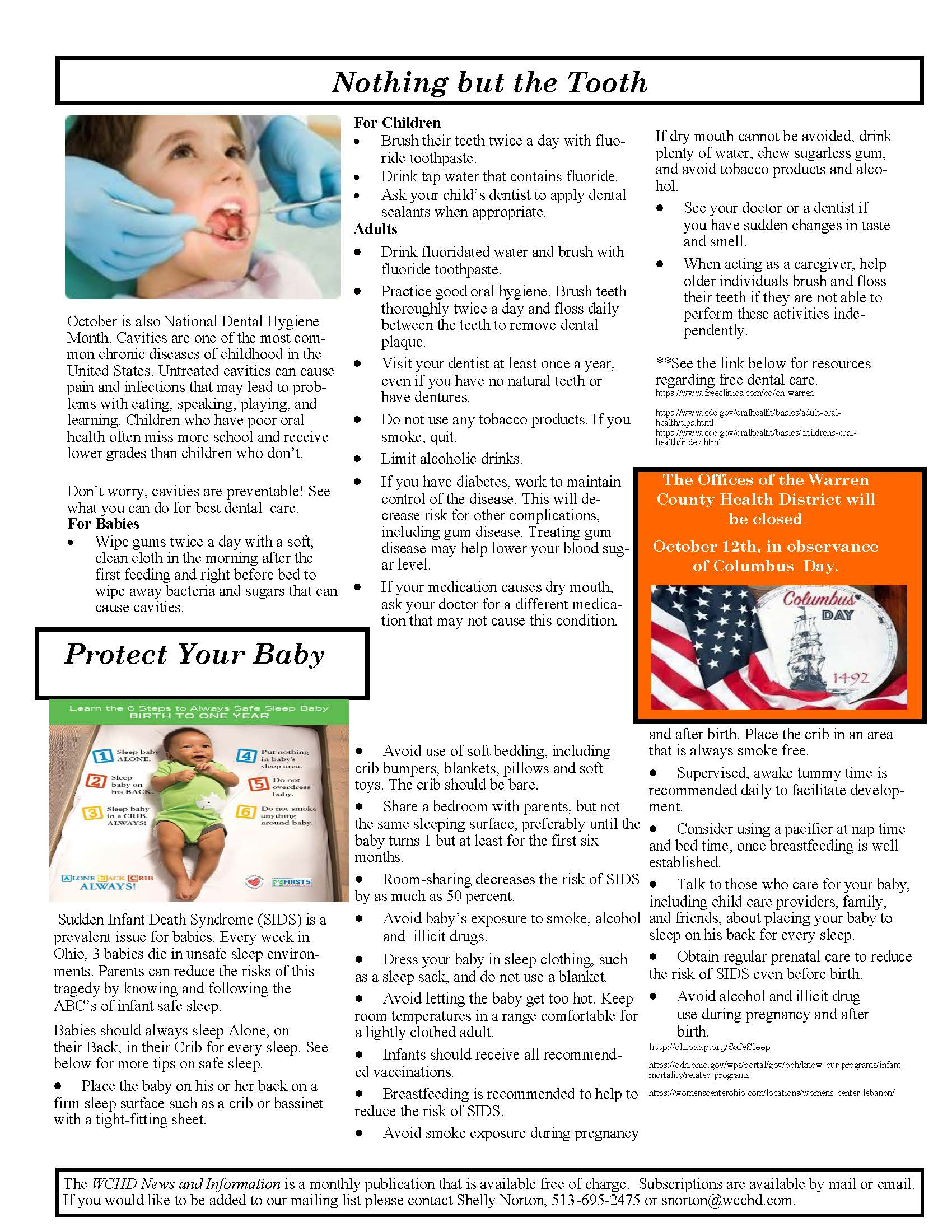 Warren County Health District Newsletter Page 2