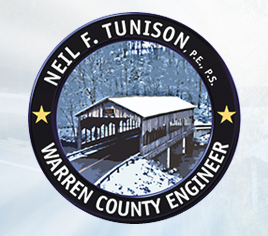 Warren County Engineer Logo - Covered Bridge Over Road